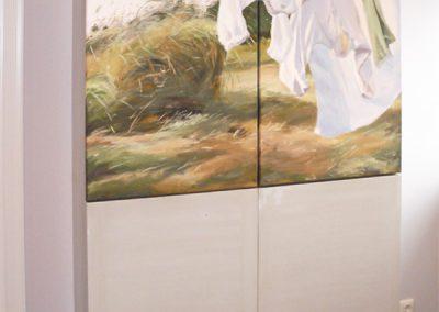 Schrank mit Gemälde von Susanne Wind